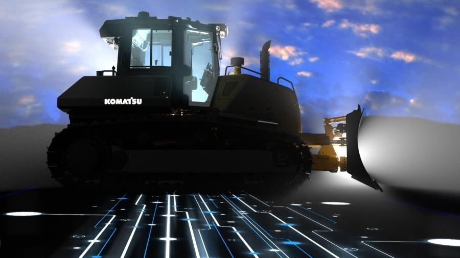 Komatsu Machine Control 2.0 інтелектуальна система управління бульдозером