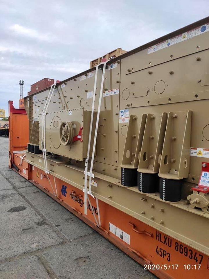 В Украину завезли инновационное оборудование для грохочения – горизонтальные грохоты Telsmith KPI-JCI
