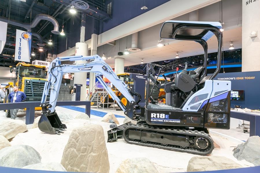 Hyundai розробляє електричний міні-екскаватор