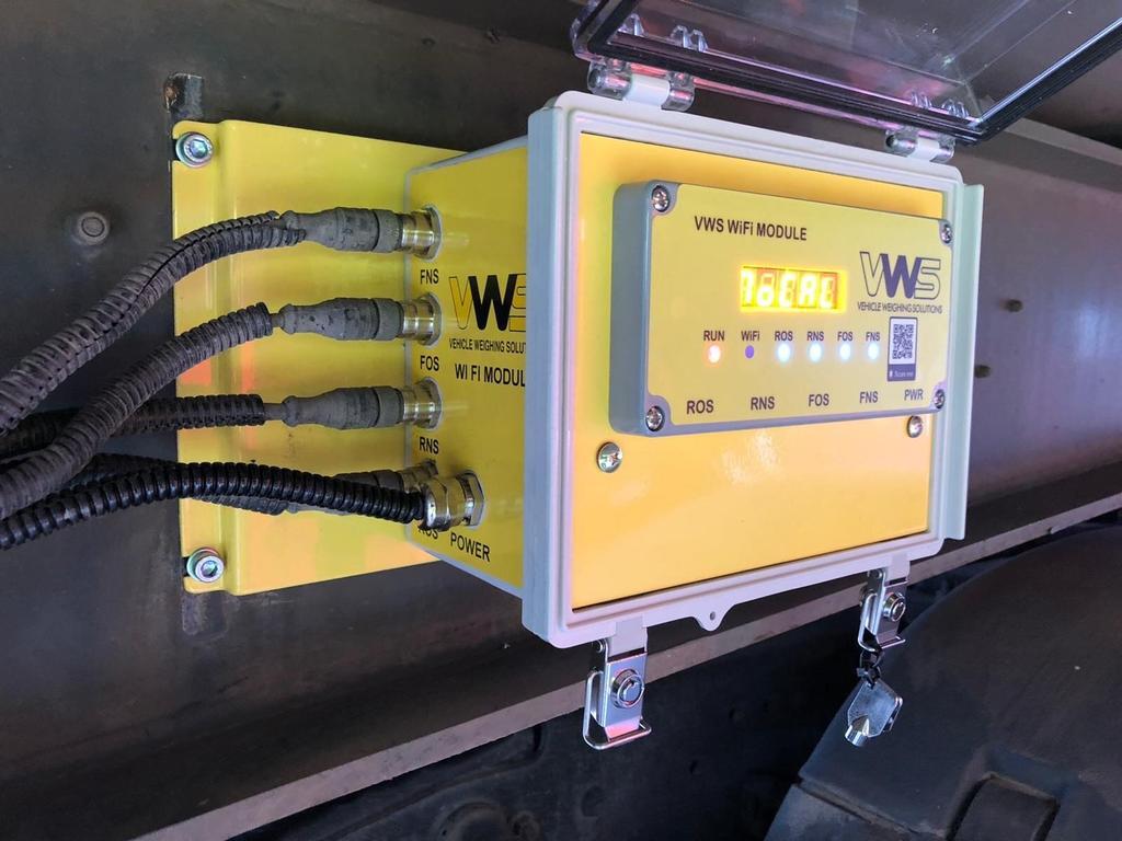 Компанія VWS анонсувала систему зважування і контролю осьових навантажень з функцією WiFi
