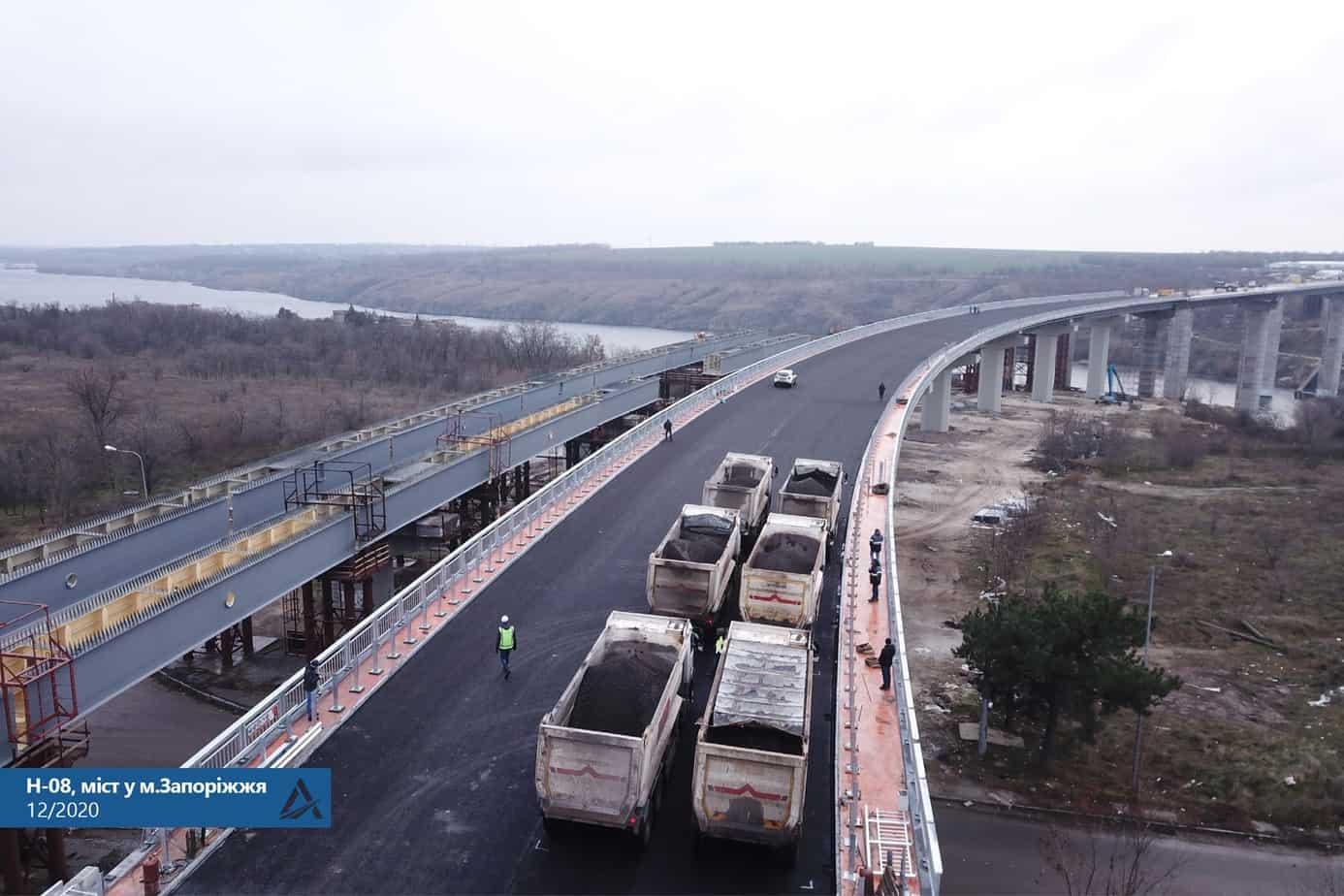 Частково рух Запорізьким мостом планується відкрити вже до кінця року