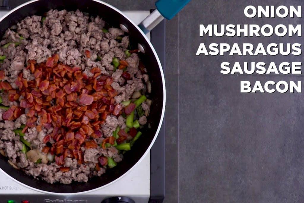 Keto Breakfast Casserole Meat Mixture