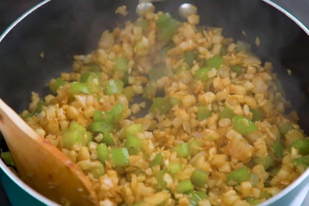 Keto Taco Casserole Veggie Mixture