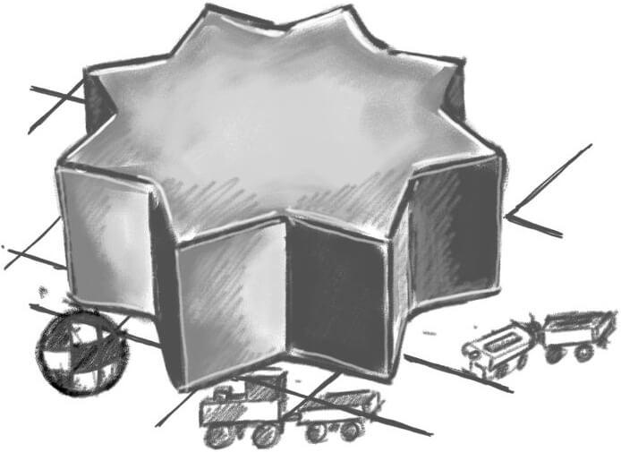 Rysunek Pufa Gwiazdka