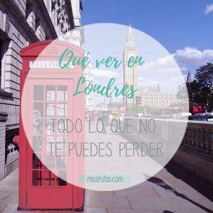 Que ver en Londres portada post miss rutas