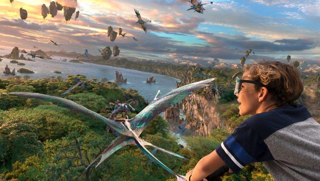 Atracción de Flight of the passage in ride en el parque Animal Kingdom en Disney World Orlando