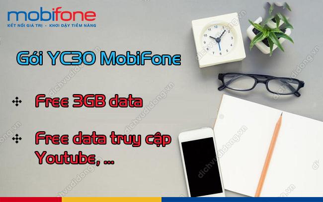 GÓI YC30 Free 100% DATA+3GB CHỈ 99K