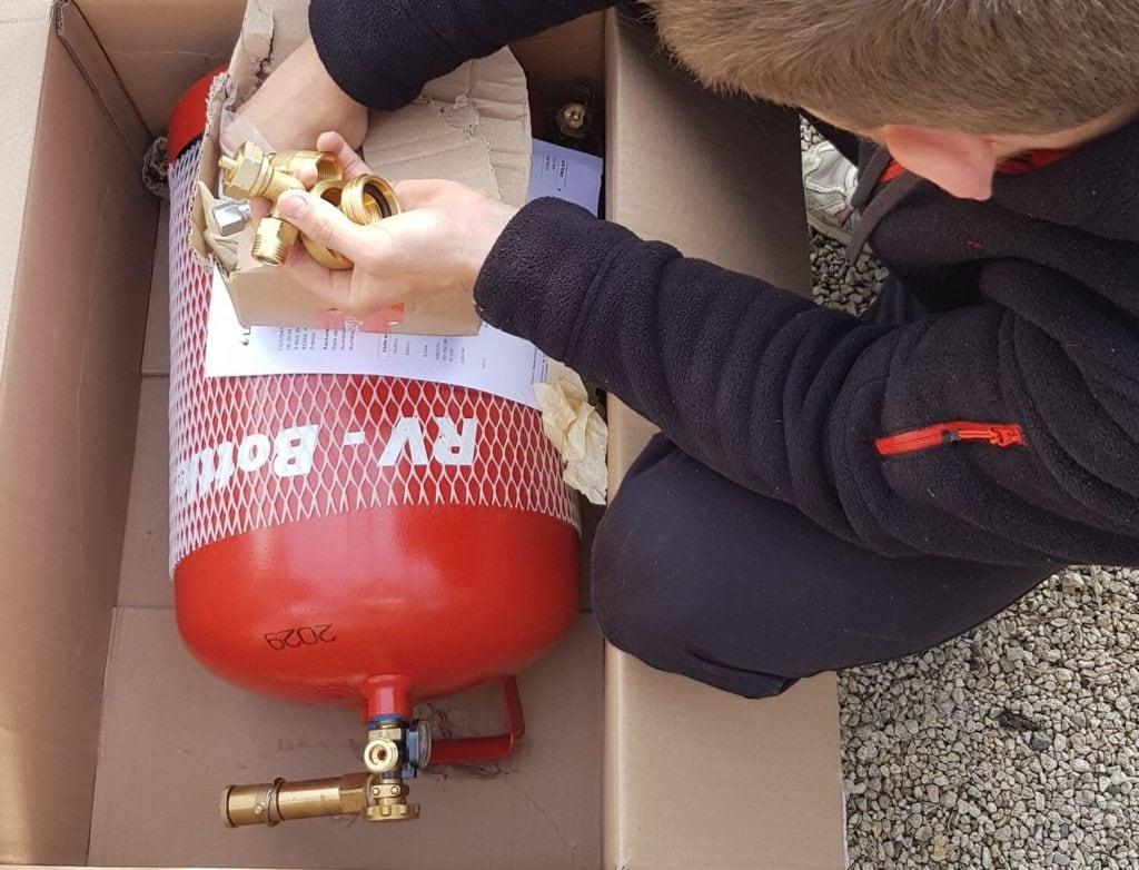 Bouteille gaz GPL, bouteille gaz fourgon aménagé, GPL