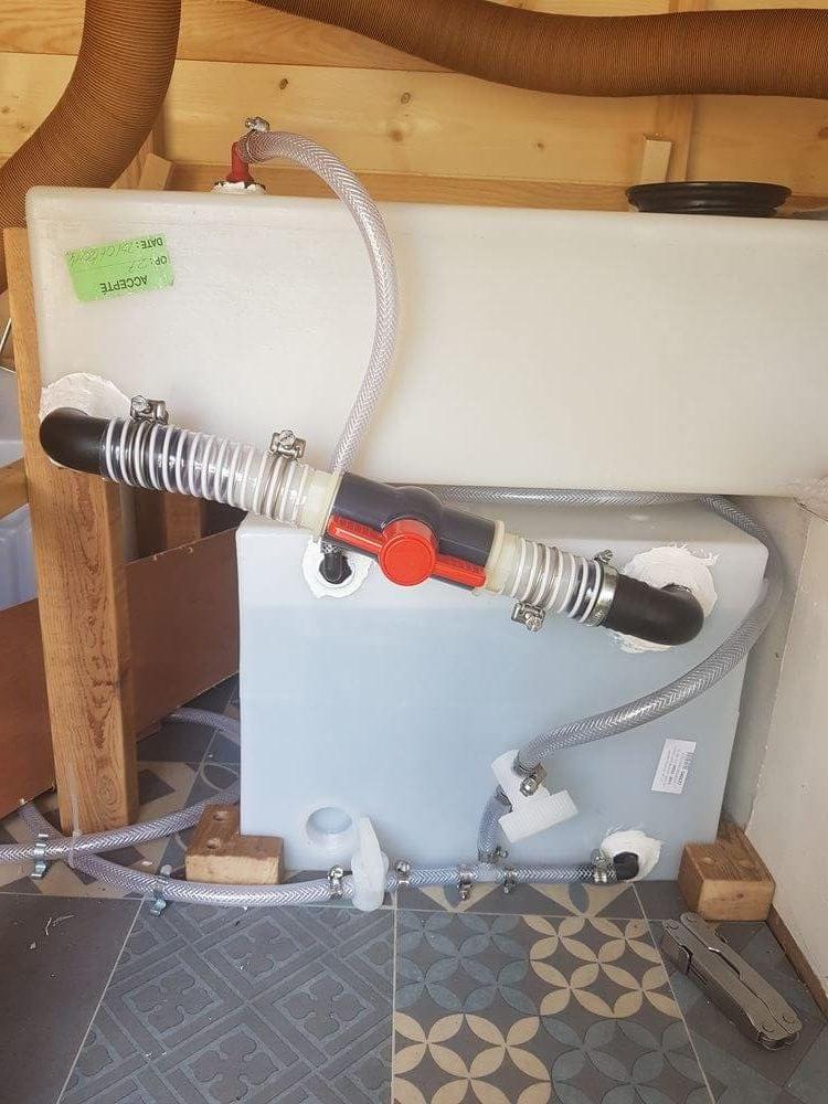 Notre installation de deux cuves d'eau