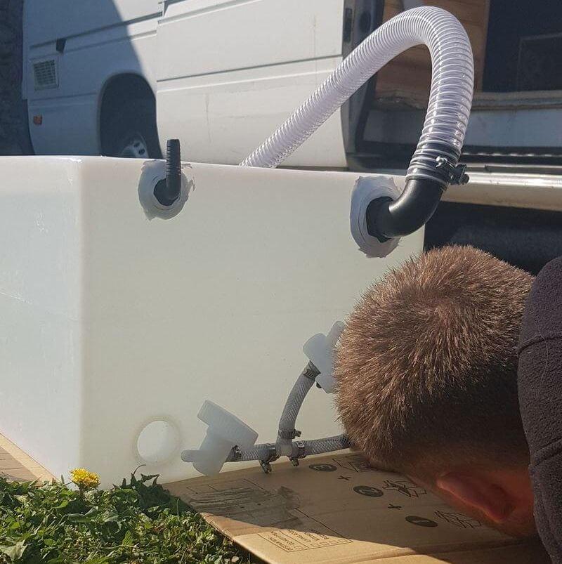 cuve eau propre, cuve 80L, cuve eau fourgon