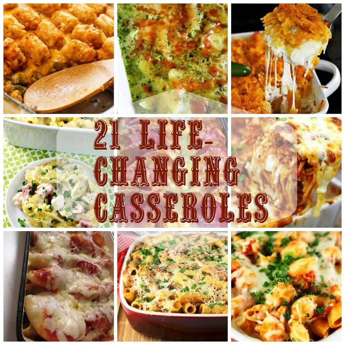 24 Life-Changing Casseroles via @Mooreorlesscook