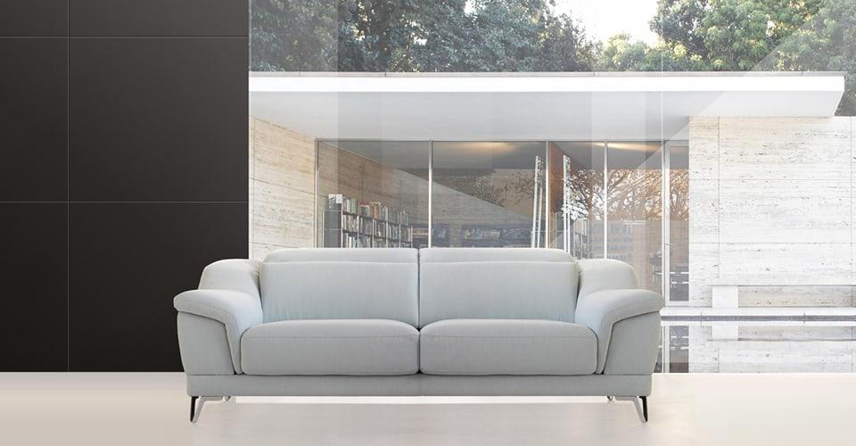 Sofá 2 plazas con asientos deslizantes