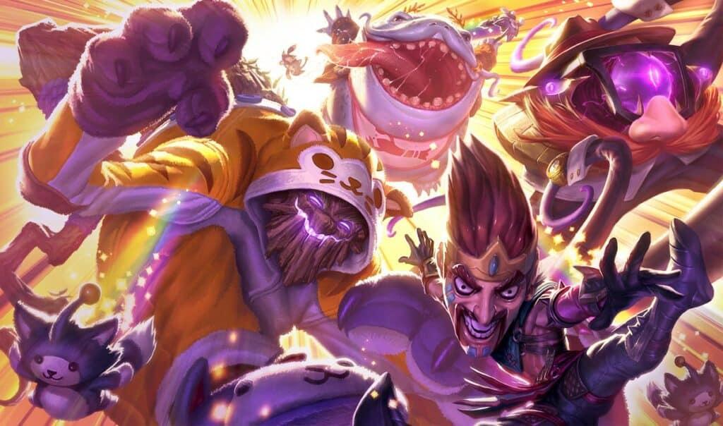 Definitely Not Skins Splash Art in League of Legends.