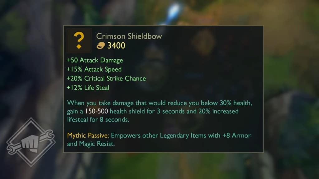 Preseason 2021 Mythic Items: Crimson Shieldbow
