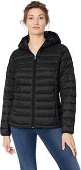 7. Amazon Essentials Women's Lightweight Long-Sleeve Full-Zip Water-Resistant Packable Hooded Puffer Jacket
