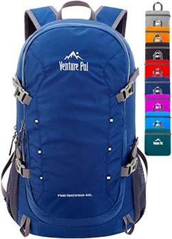 5. Venture Pal 40L Lightweight Packable Waterproof Travel Hiking Backpack Daypack