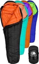 3. Hyke & Byke Eolus 0 Degree F 800 Fill Power Hydrophobic Goose Down Sleeping Bag