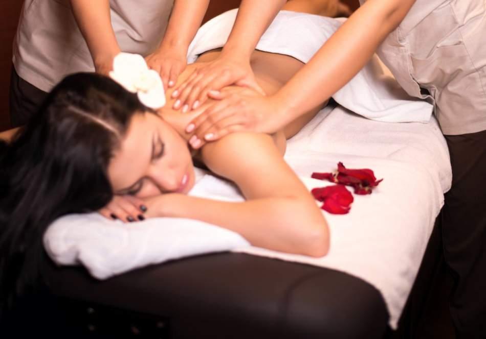 Тайский королевский массаж в 4 руки
