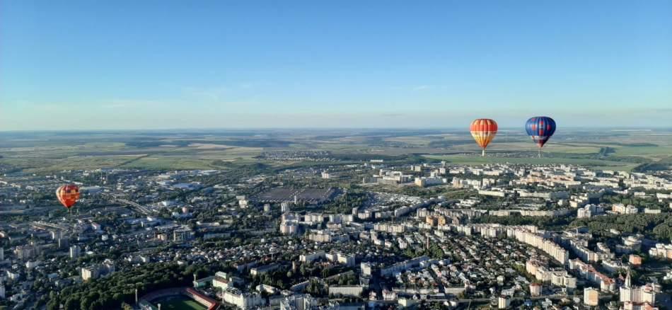 Політ на повітряній кулі над Івано-Франківськом