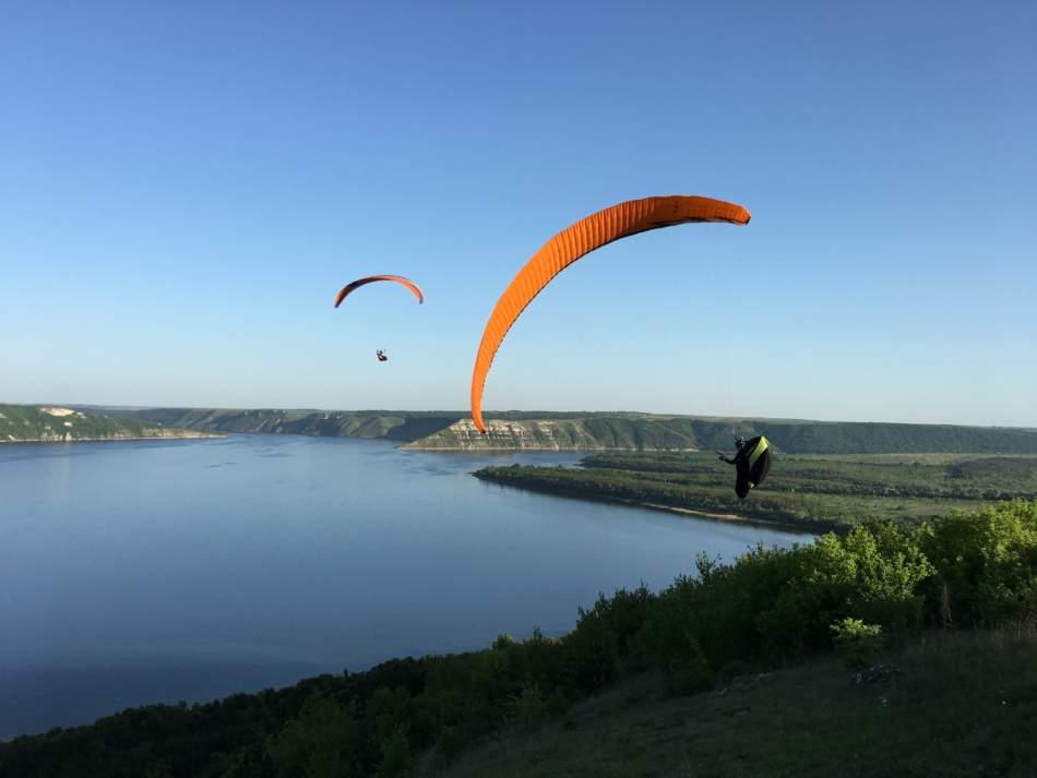 Політ на параплані з відеозйомкою у Кам'янець-Подільському