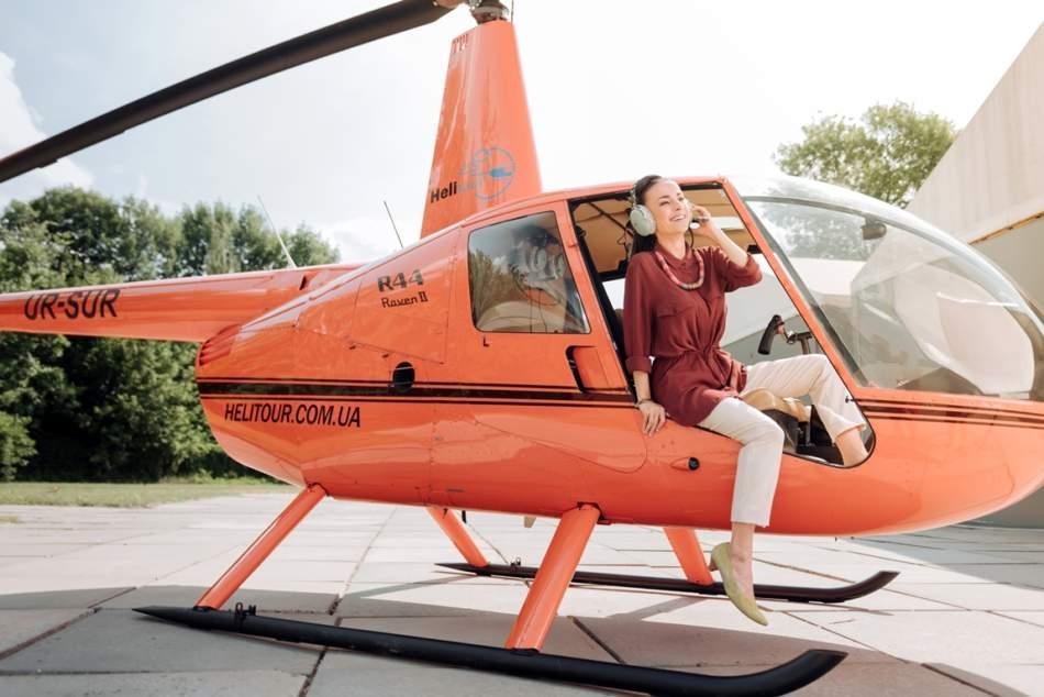 Прогулянка на вертольоті для трьох у Києві