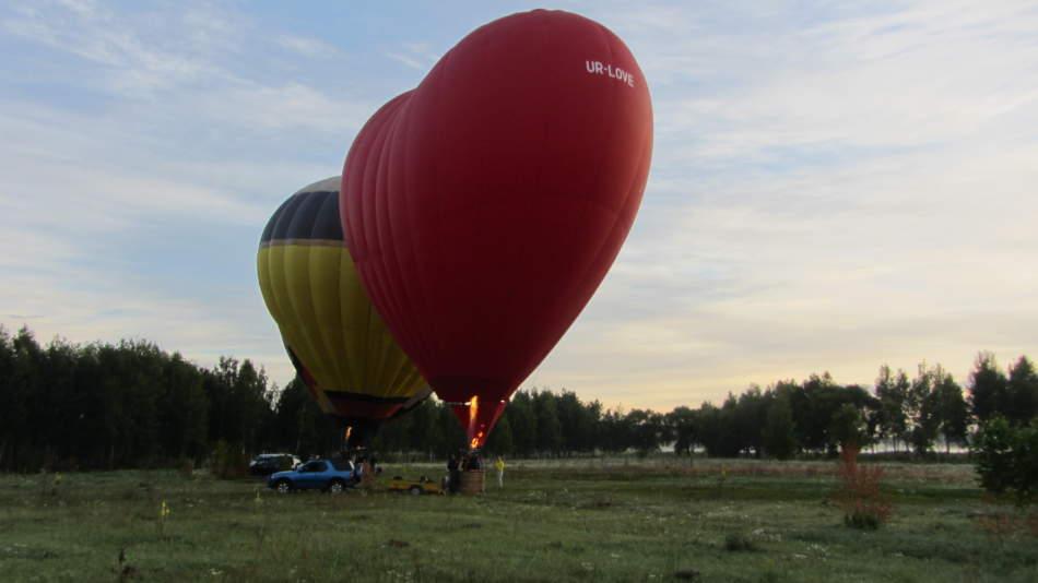 Романтический полёт на воздушном шаре «Сердце для двоих» в Киеве