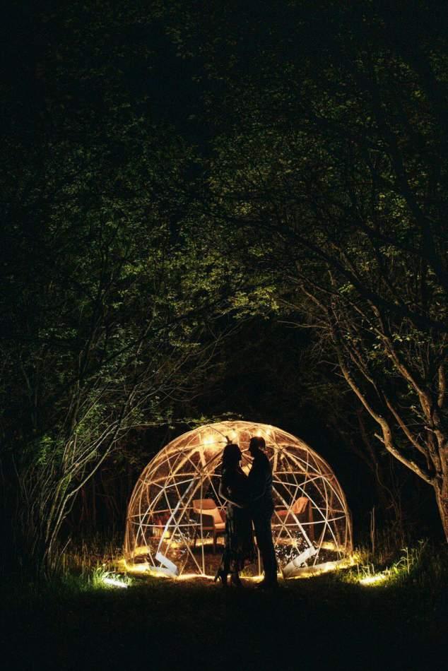 Романтический ужин под куполом открытого неба в Хмельницком