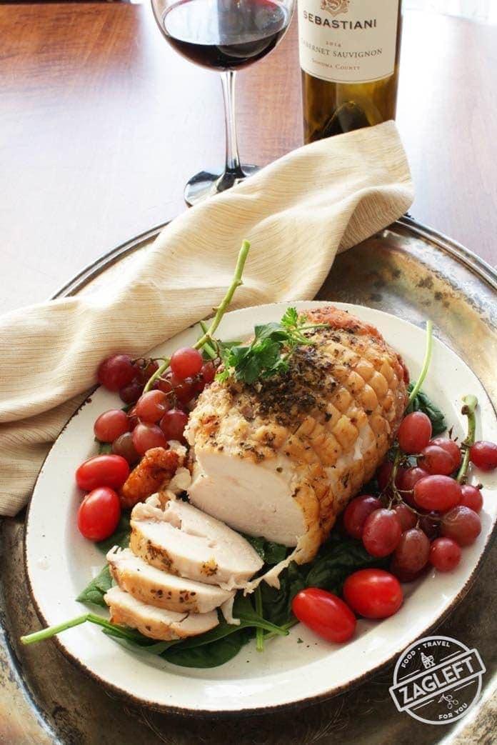 turkey roast on a platter | one dish kitchen