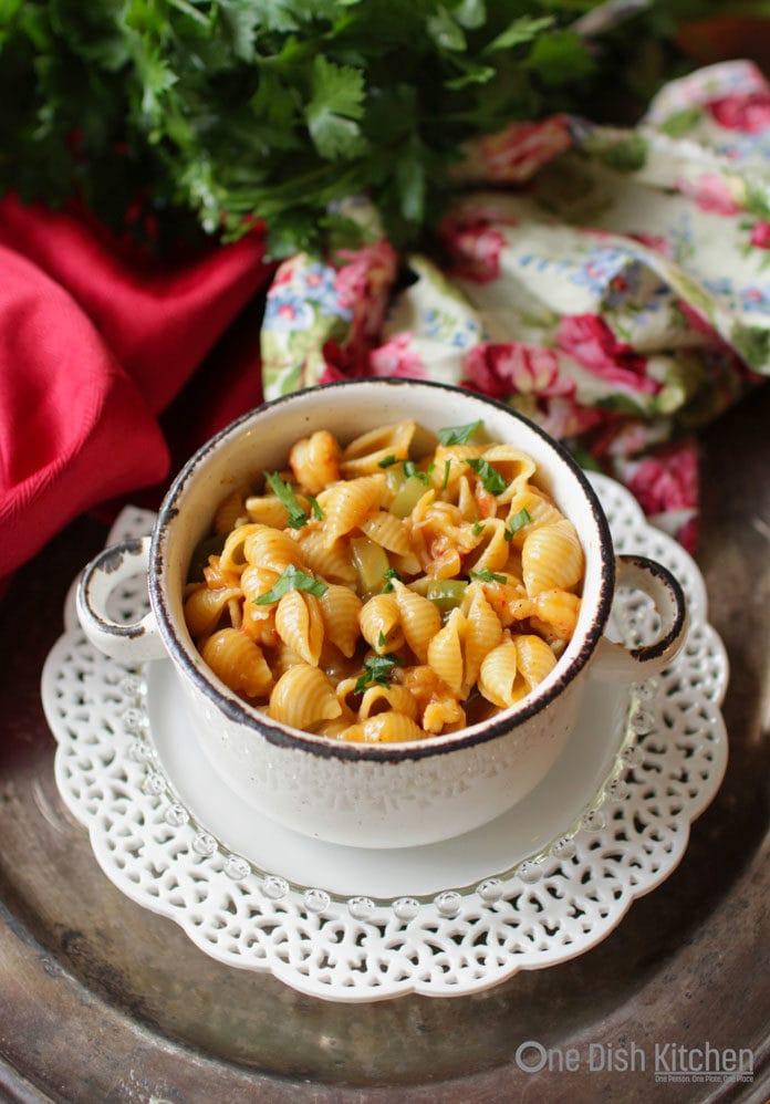 crawfish pasta   one dish kitchen