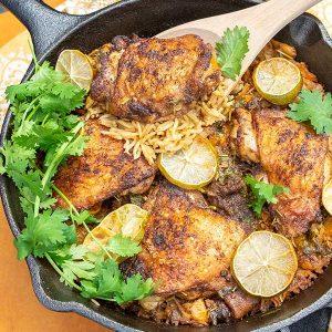 Chilli Lime Chicken With Chorizo Rice (Gluten-Free)