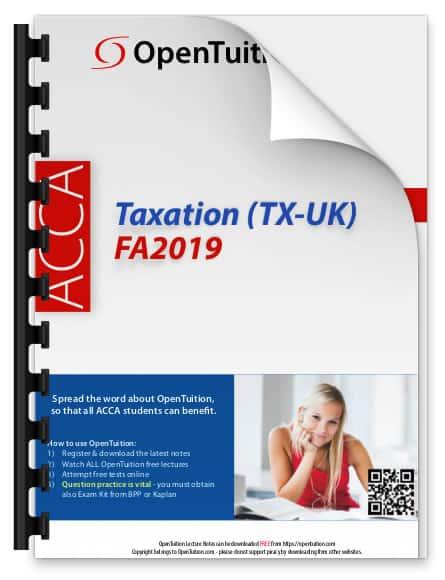 ACCA Taxation (TX-UK) 2