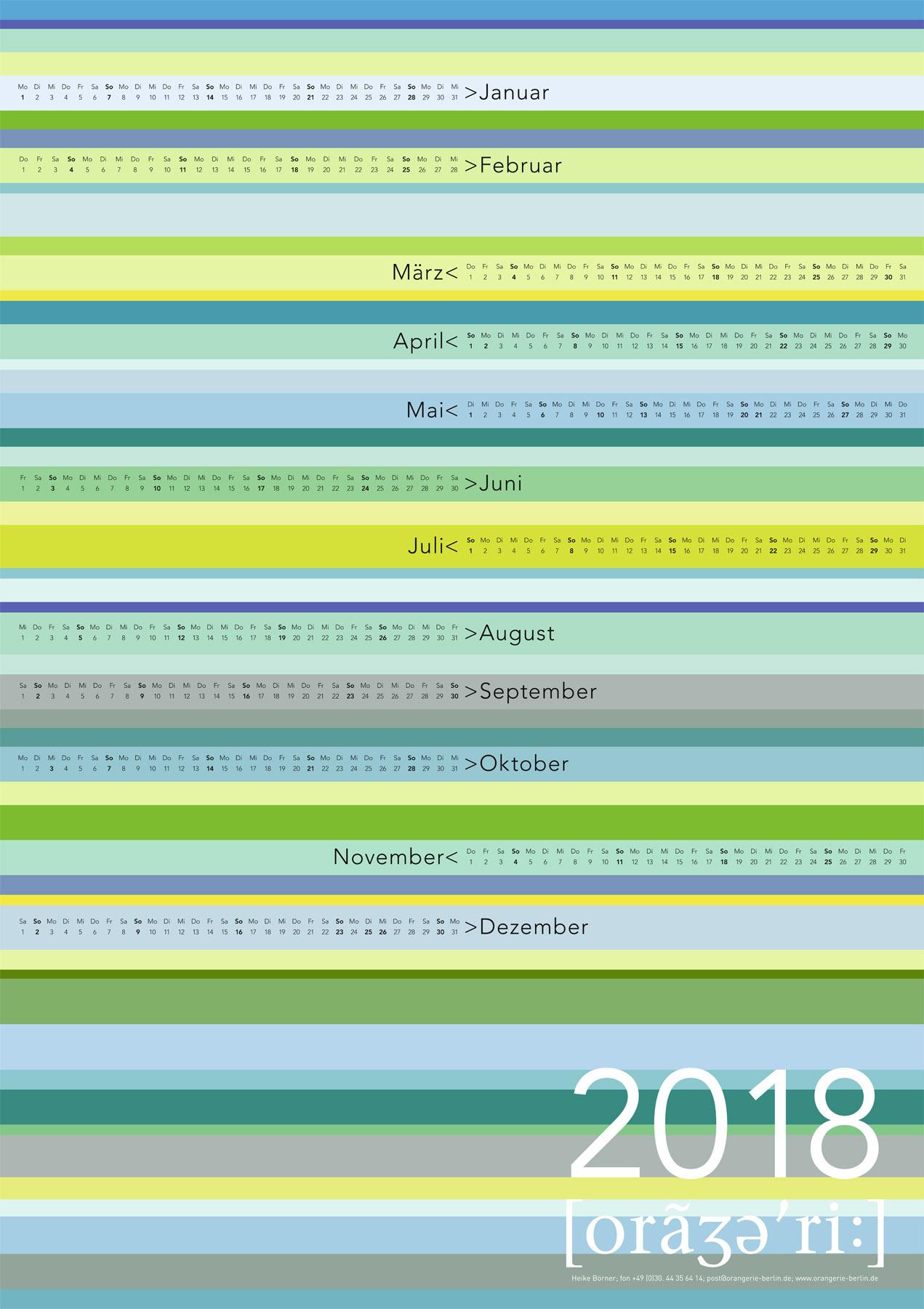 Grafikdesign, Illustration, Kalendergestaltung