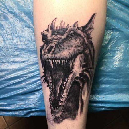 Дракона тату на руке
