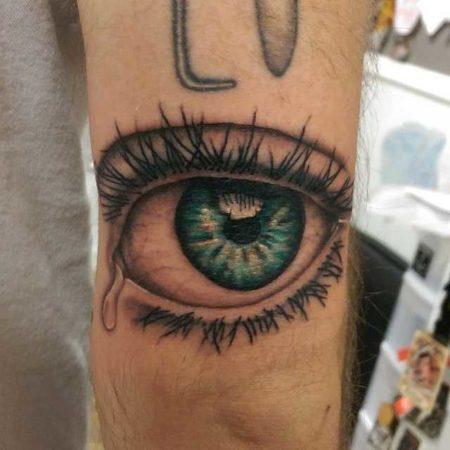 Глаз тату, реализм на руке