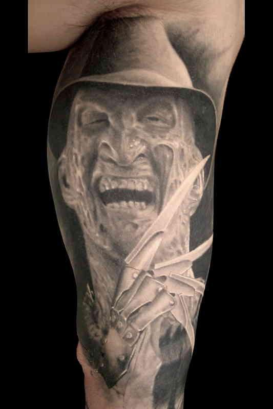 Фредди портретное тату, хоррор