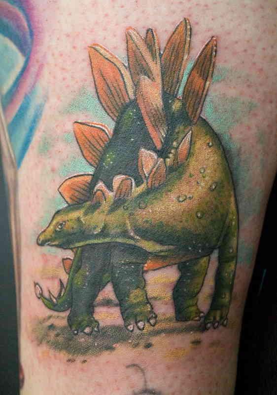 Динозавр тату