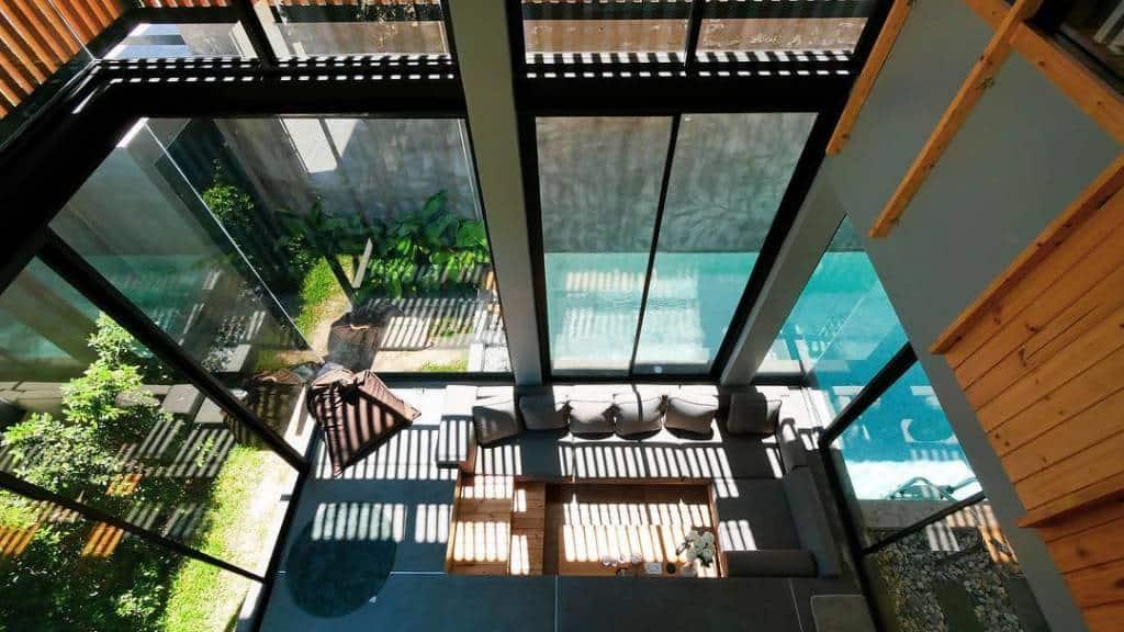 Loft-style pool villas