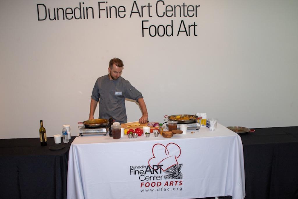 Food art demonstrator shows skills