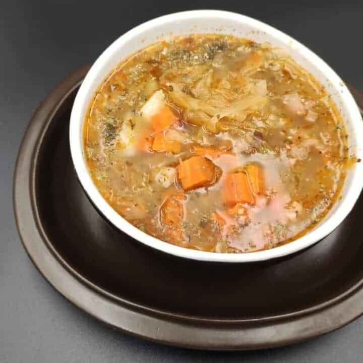Authentic Polish Sauerkraut Soup Kapusniak Recipe
