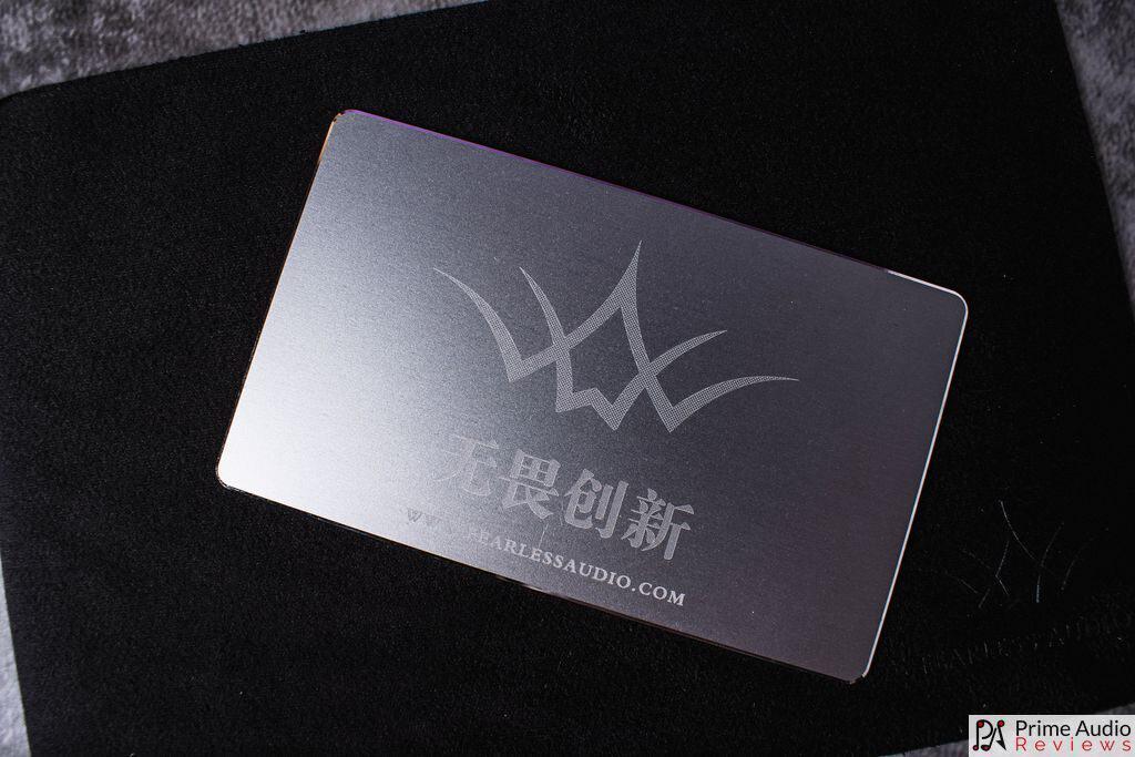 S8F aluminium warranty and information card