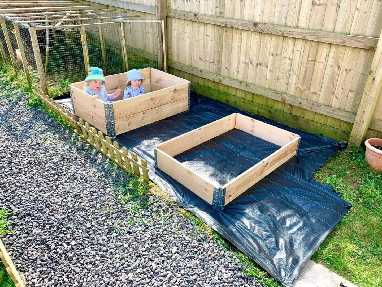 Creating a kitchen garden veg plot