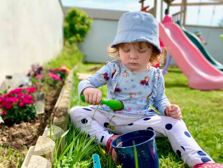 Little Dottie in the garden