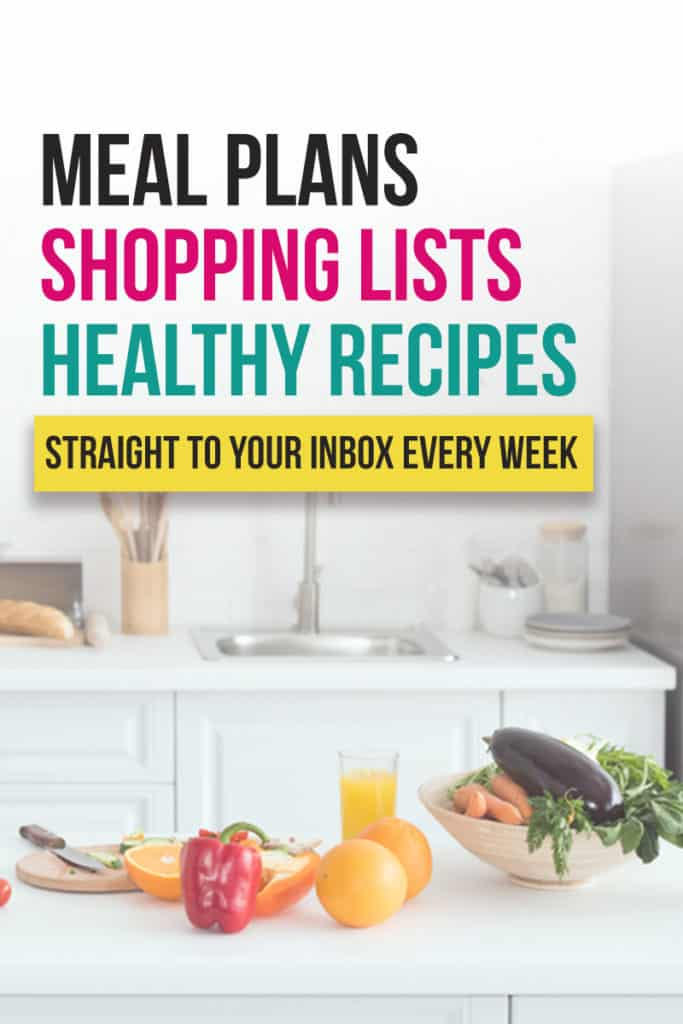 Pre made meal plans and healthy shopping list