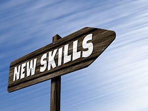 znak z napisem nowe umiejętności