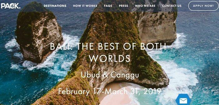 Findyourpack Bali 2019