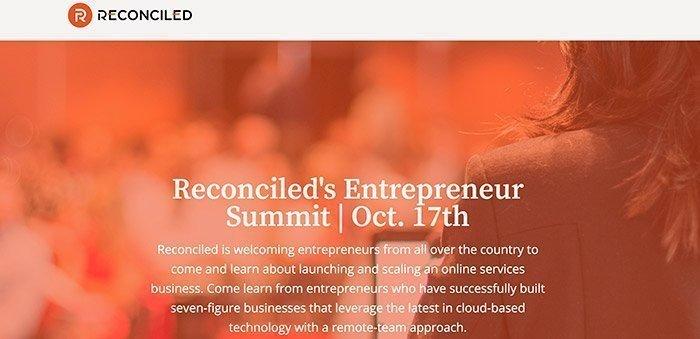 Reconciled's Entrepreneur Summit 2019