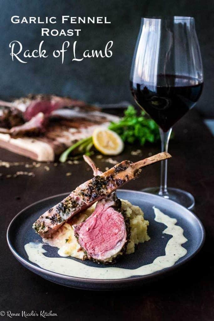 Garlic Fennel Crusted Roast Rack of Lamb