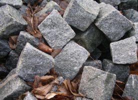 Granitpflaster 8/11 und 4/6