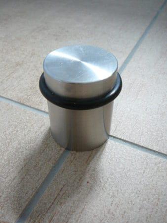 Türstopper Edelstahl mit Gummiring, Bodenmontage, 50 mm Höhe, 38 mm Durchmesser