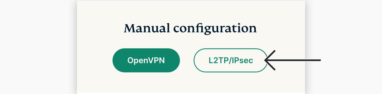 """Click """"L2TP/IPsec."""""""
